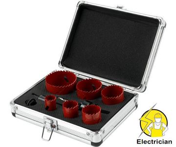 Picture of holesaw set- 9 units
