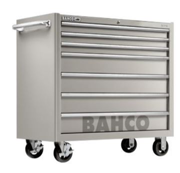 "Picture of 7 Drawer S75 Classic 40"" Stainless Steel Tool Trolley"